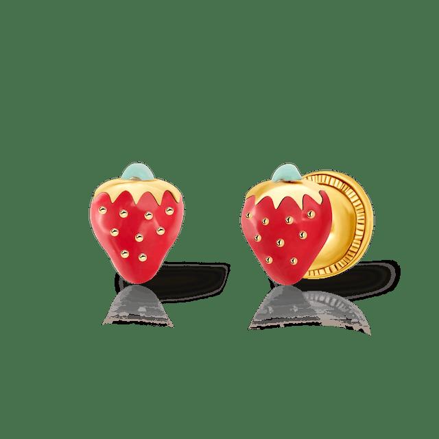 Kolczyki truskawki Savicki: złote