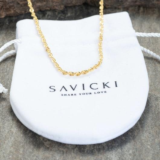 Złoty łańcuszek Savicki: żółte złoto