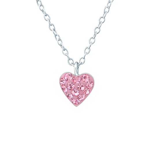 Naszyjnik serce Savicki: srebrny, cyrkonia