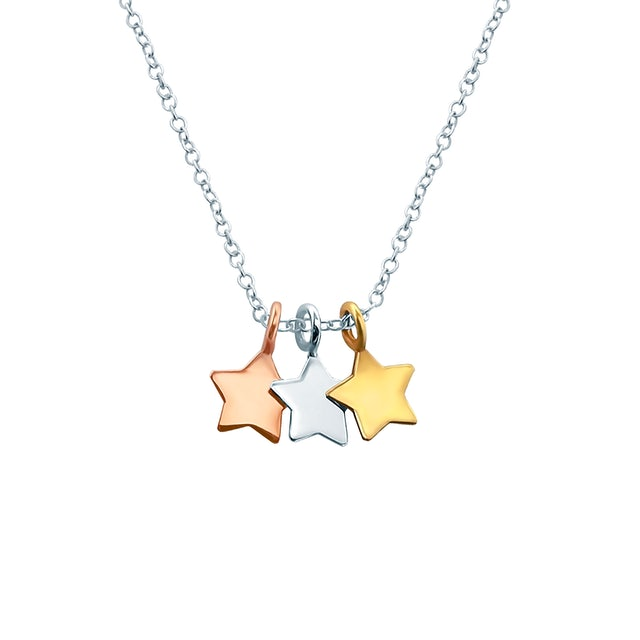 Naszyjnik gwiazdki Savicki: srebrny pozłacany