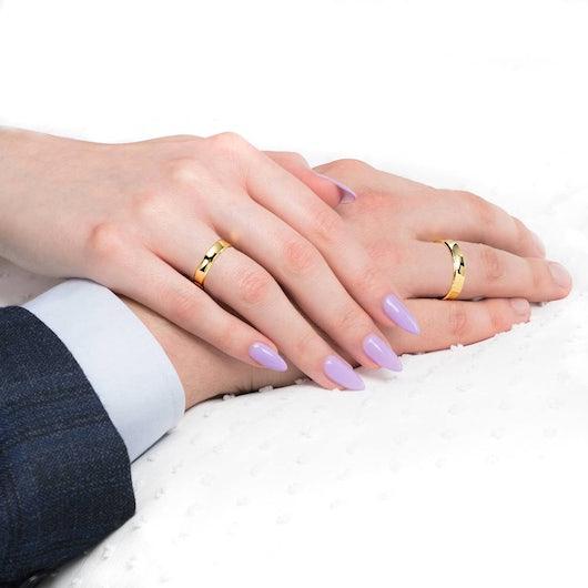 Obrączki ślubne: złote, wklęsłe, 4 mm