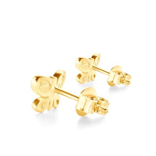 Kolczyki motylki Animals: złote, cyrkonie