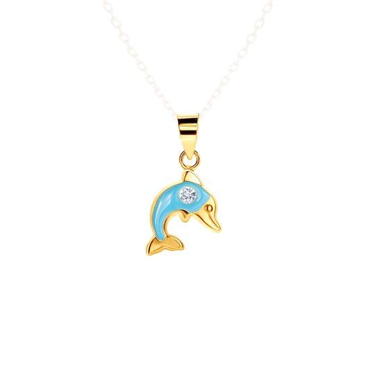 Zawieszka delfin Animals: złota, cyrkonia