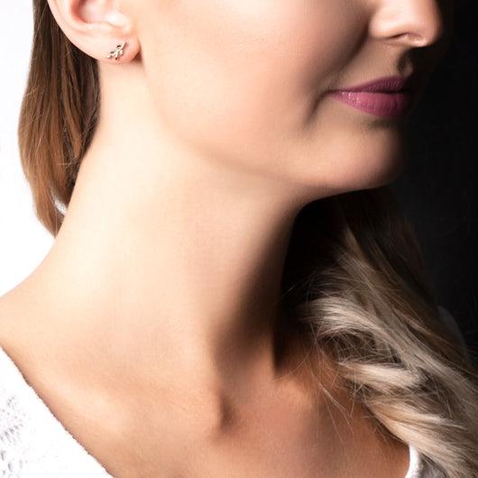 Kolczyki Savicki: różowe złoto, czarne diamenty