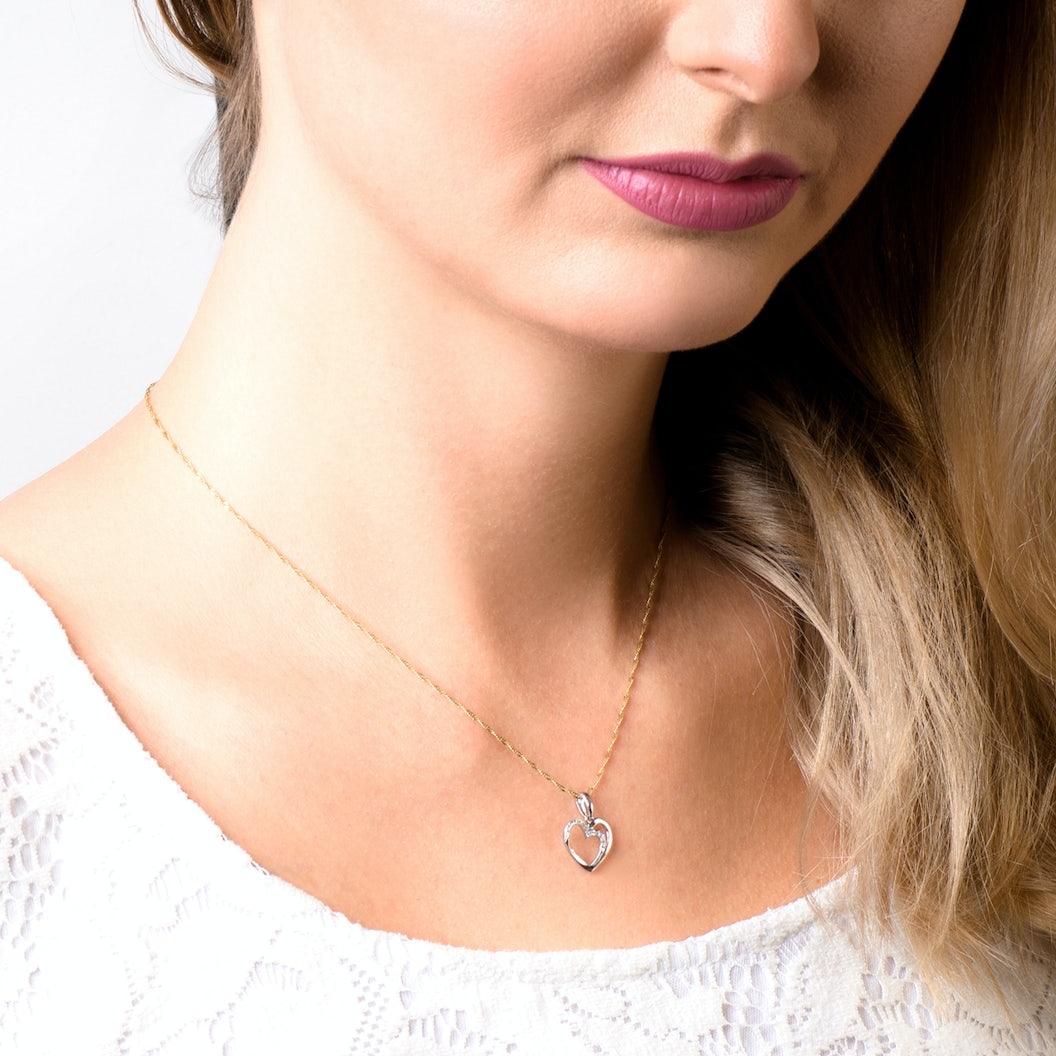 Zawieszka serce Savicki: białe złoto, diamenty