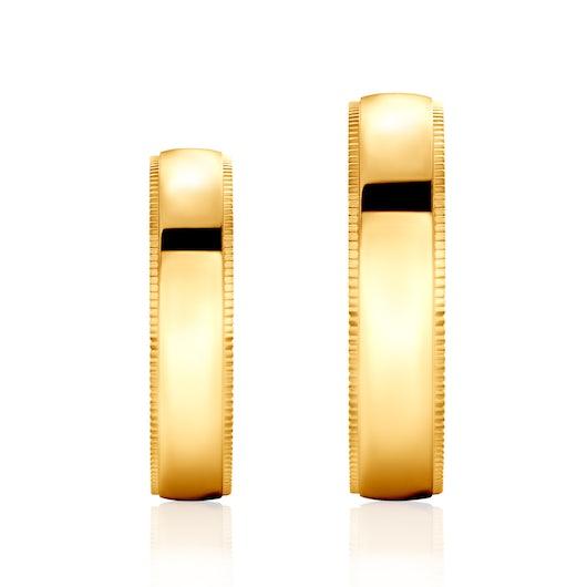 Obrączki ślubne: złote, okrągłe, 5 mm