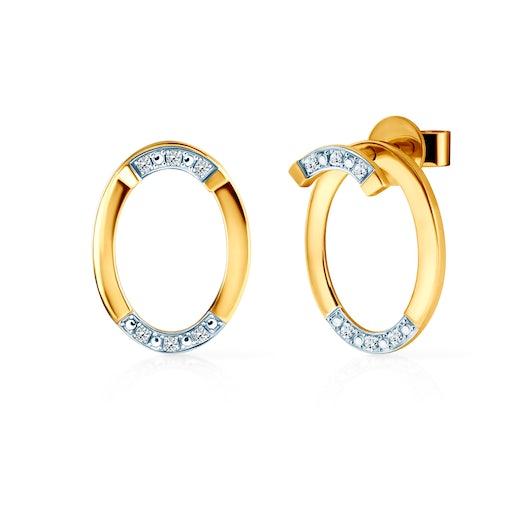 Kolczyki koła Savicki: złote, diamenty