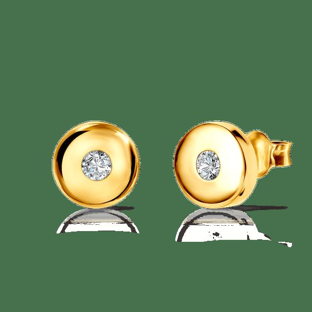 Kolczyki koła Savicki: złote, cyrkonie