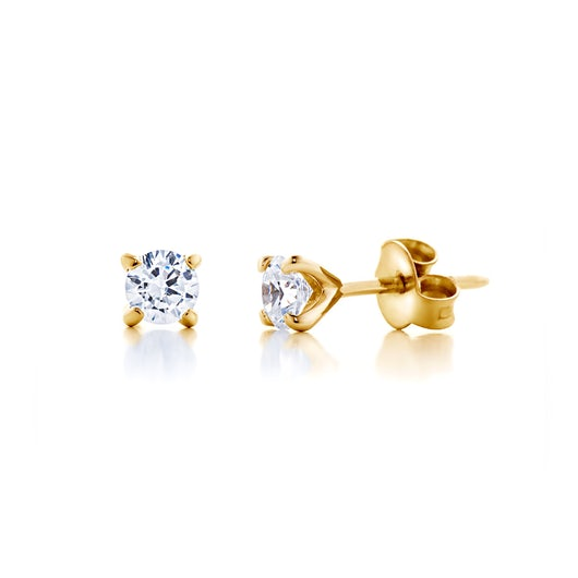 Kolczyki SAVICKI: złote, diamenty