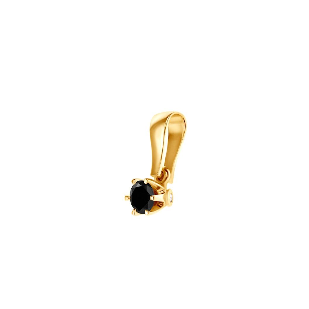 Zawieszka SAVICKI: złota, czarny diament