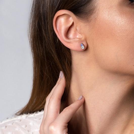 Earrings SAVICKI: gold, white sapphire