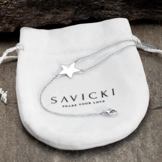 Náramek s přívěskem hvězda Savicki: stříbro