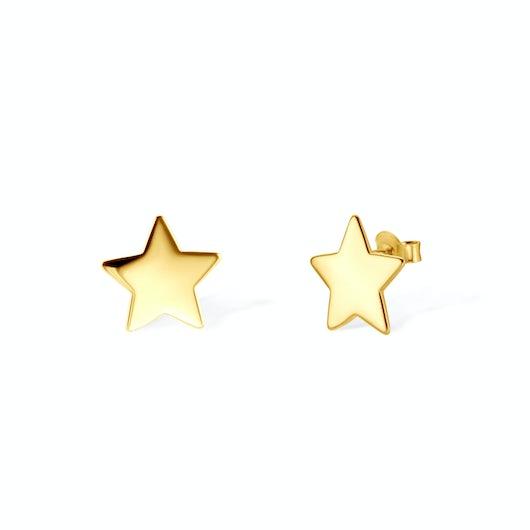 Náušnice hvězdičky Savicki: pozlacené stříbro