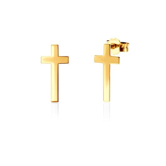Kolczyki krzyżyk Savicki: złote