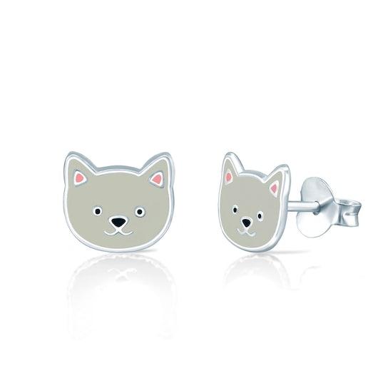 Kolczyki kotki Animals: srebrne