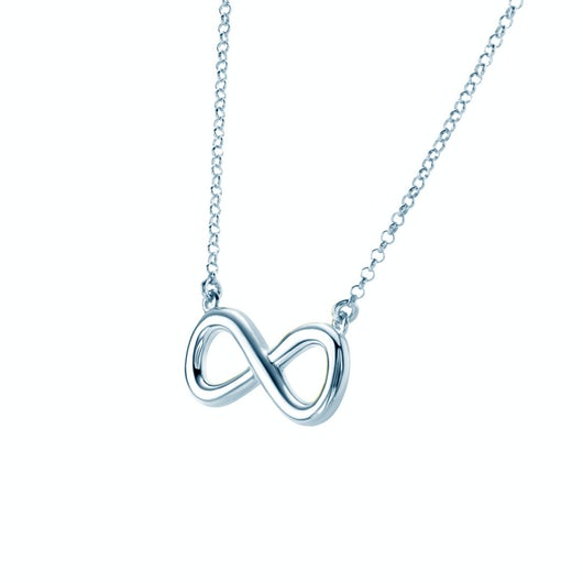 Necklace Infinity: silver