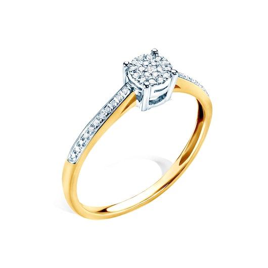 Pierścionek zaręczynowy Savicki: dwukolorowe złoto, diament