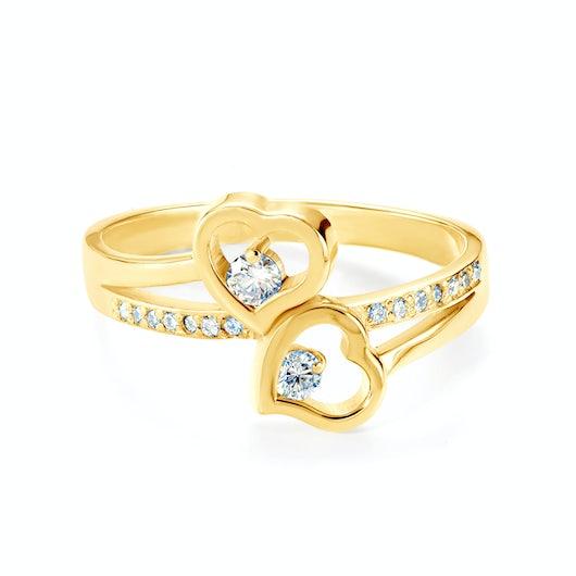 Heart Engagement Ring: gold, diamond