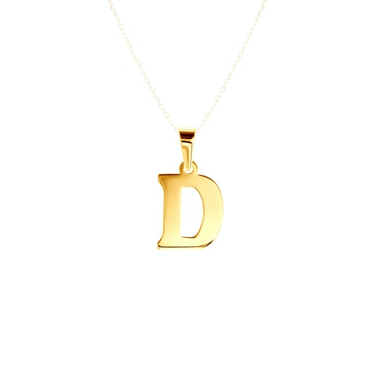 Zawieszka litera D Savicki: złota
