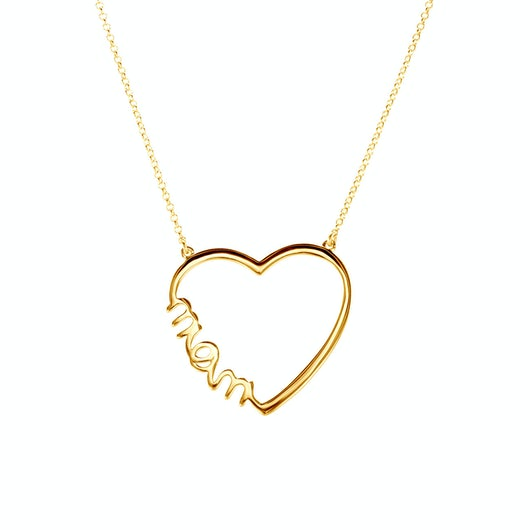 Necklace Heart Savicki: gold-plated silver