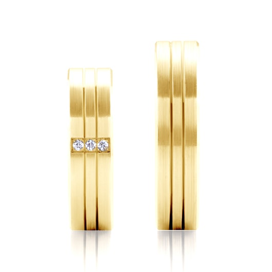 Obrączki ślubne: złote, płaskie, 5,3 mm