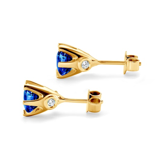 Earrings SAVICKI: gold, sapphire