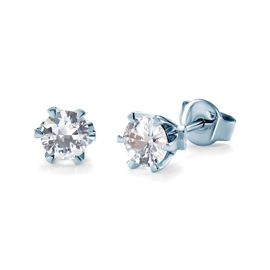 Earrings SAVICKI: white gold, white sapphire