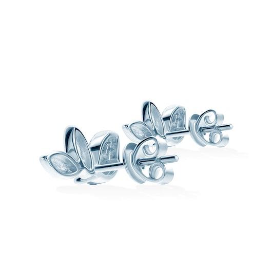 Kolczyki Nature: srebrne, cyrkonie