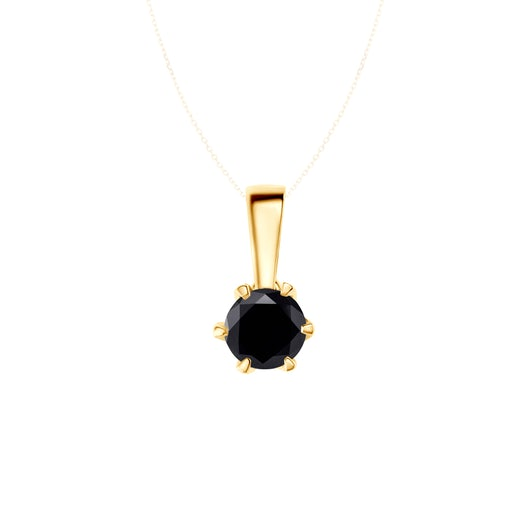 Přívěsek The Journey: zlatý, černý diamant