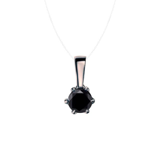Pendant SAVICKI: Black gold, black diamond