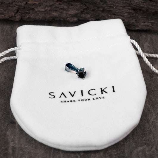 Pendant SAVICKI: Black gold, black diamond