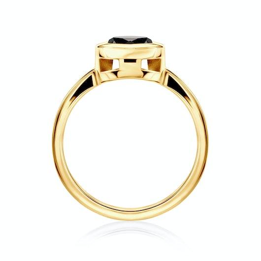 Pierścionek zaręczynowy SAVICKI: złoty, czarny diament
