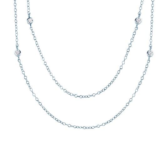 Łańcuszek Glare: srebrny, cyrkonie