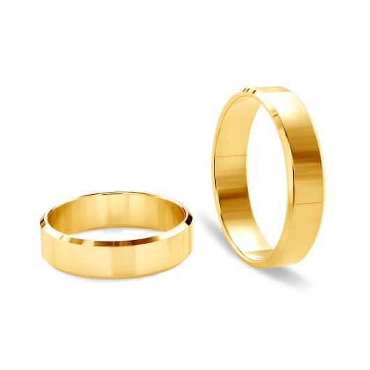 Obrączki ślubne: złote, z fazą, 5 mm