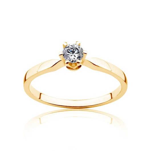 Triumph of Love Collection | Solitaire Engagement Ring: gold, diamond