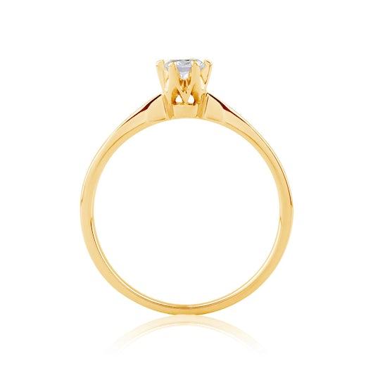 Zásnubní prsten Triumph of Love: zlatý, diamant