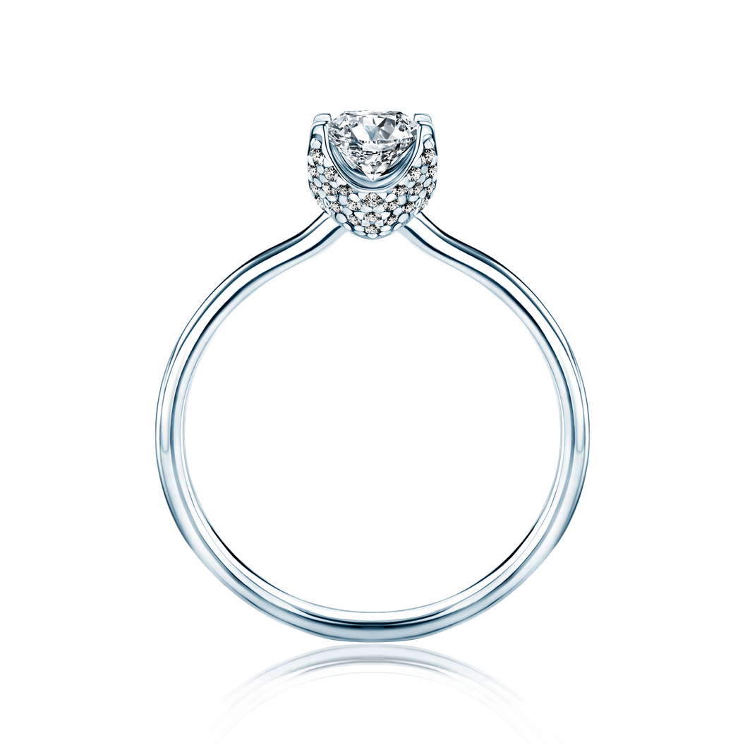 Solitaire Engagement Ring: white gold, white sapphire
